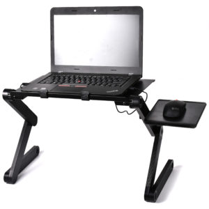 Foldable Ergonomic Laptop Stand With Cooling Fan And Mousepad - 9