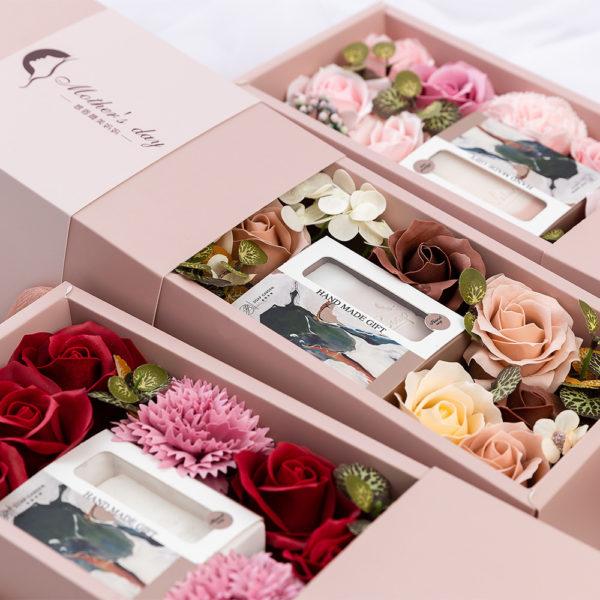 Rose Flower Handmade Soap Gift Box
