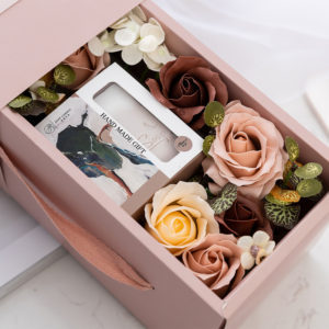 Rose Flower Handmade Soap Gift Box