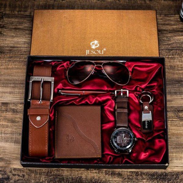 Mens Luxury Gift Set - Brown