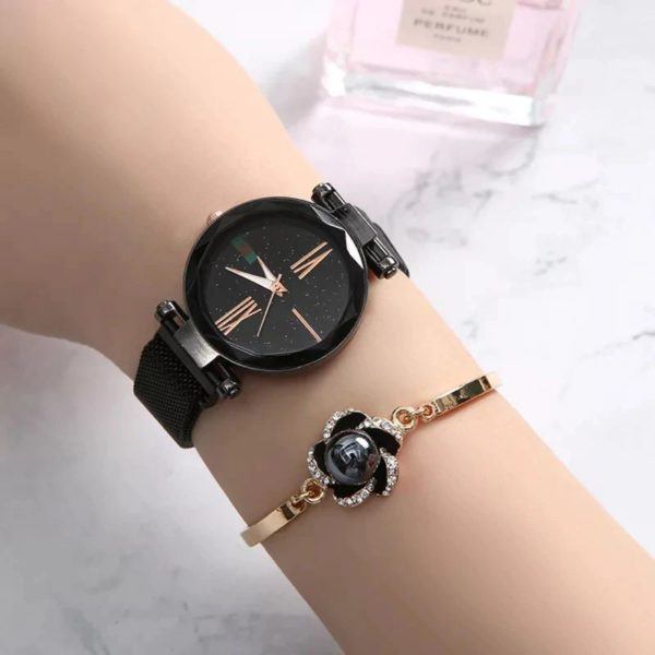 Women's Luxury Gift Set - Bracelet, Earrings, Necklace And Watch - Watch