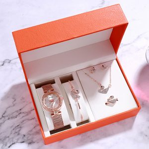 Women's Watch Swan Jewelry Set