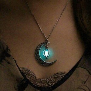 Crescent Moon Glowing Pendant