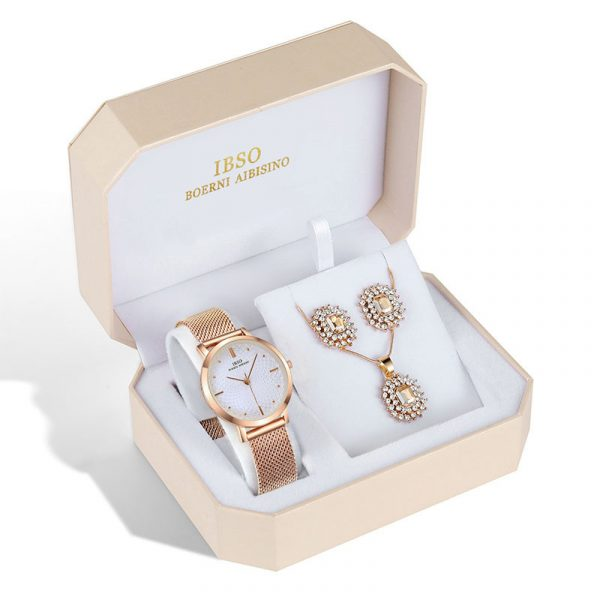 Watch Jewelry Set - Watch, Earrings, And Necklace 1