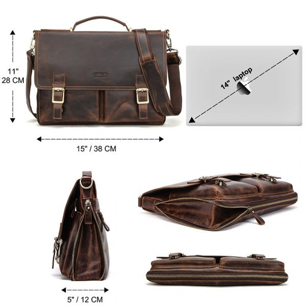 Leather Mens Business Briefcase 1