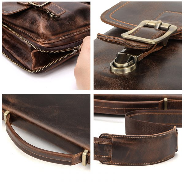 Leather Mens Business Briefcase 3