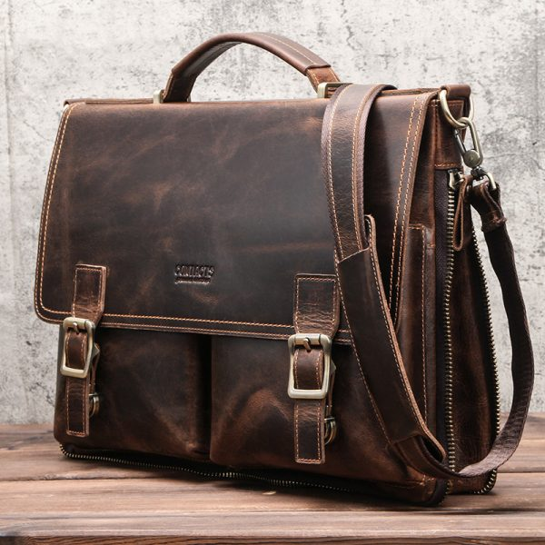 Leather Mens Business Briefcase