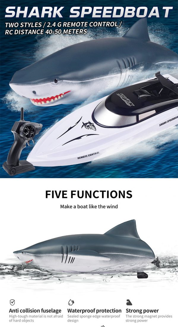 Electric RC Shark Speed Boat 5