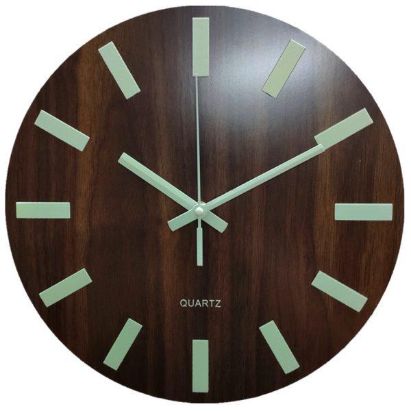 Glow In The Dark Wooden Wall Clock 3