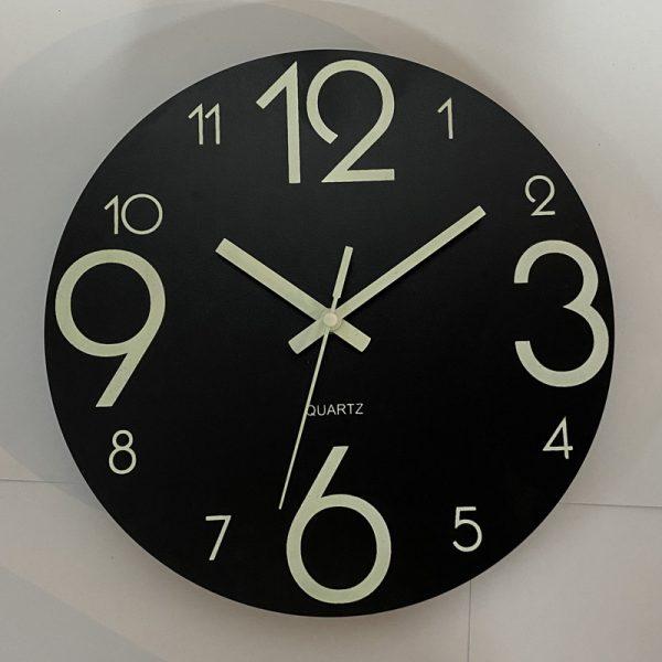 Glow In The Dark Wooden Wall Clock 6
