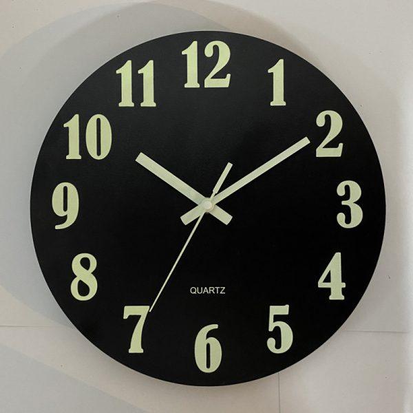 Glow In The Dark Wooden Wall Clock 5