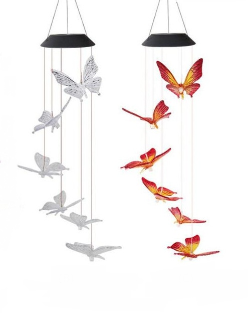 Solar Powered LED Butterfly Wind Chimes 6
